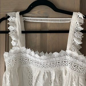 vera and lucy Tops - White eyelet top